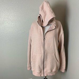 Blush pink zip hoodie like lululemon